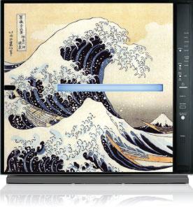 MinusA2 air purifier with Great Wave design