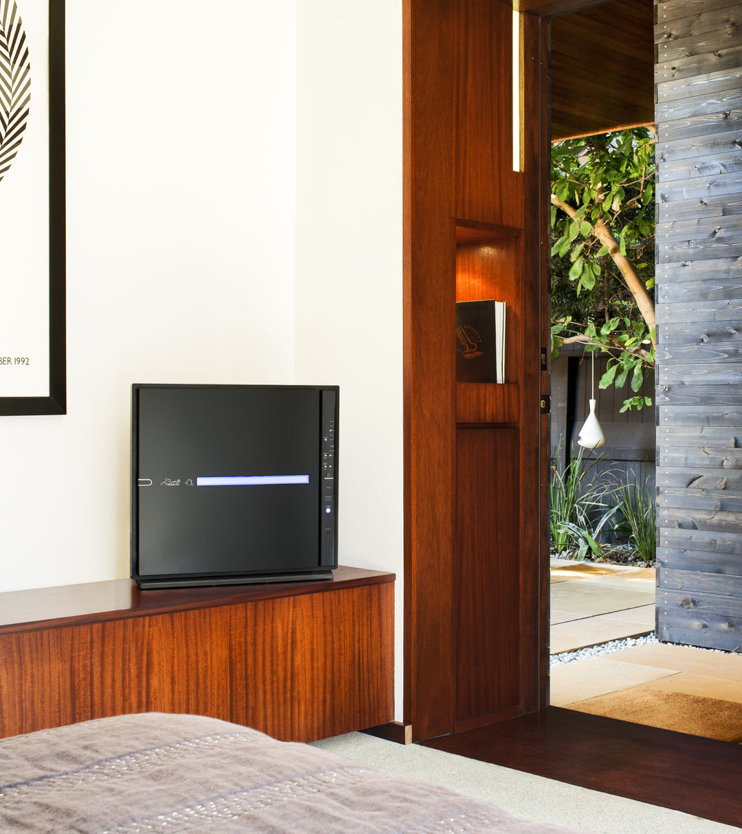 MinusA2 air purifier in the bedroom