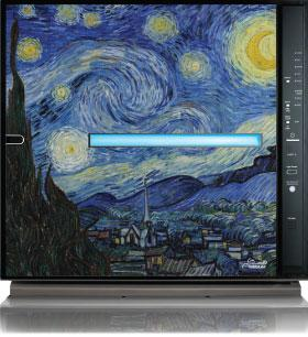 MinusA2 air purifier with Starry Night design