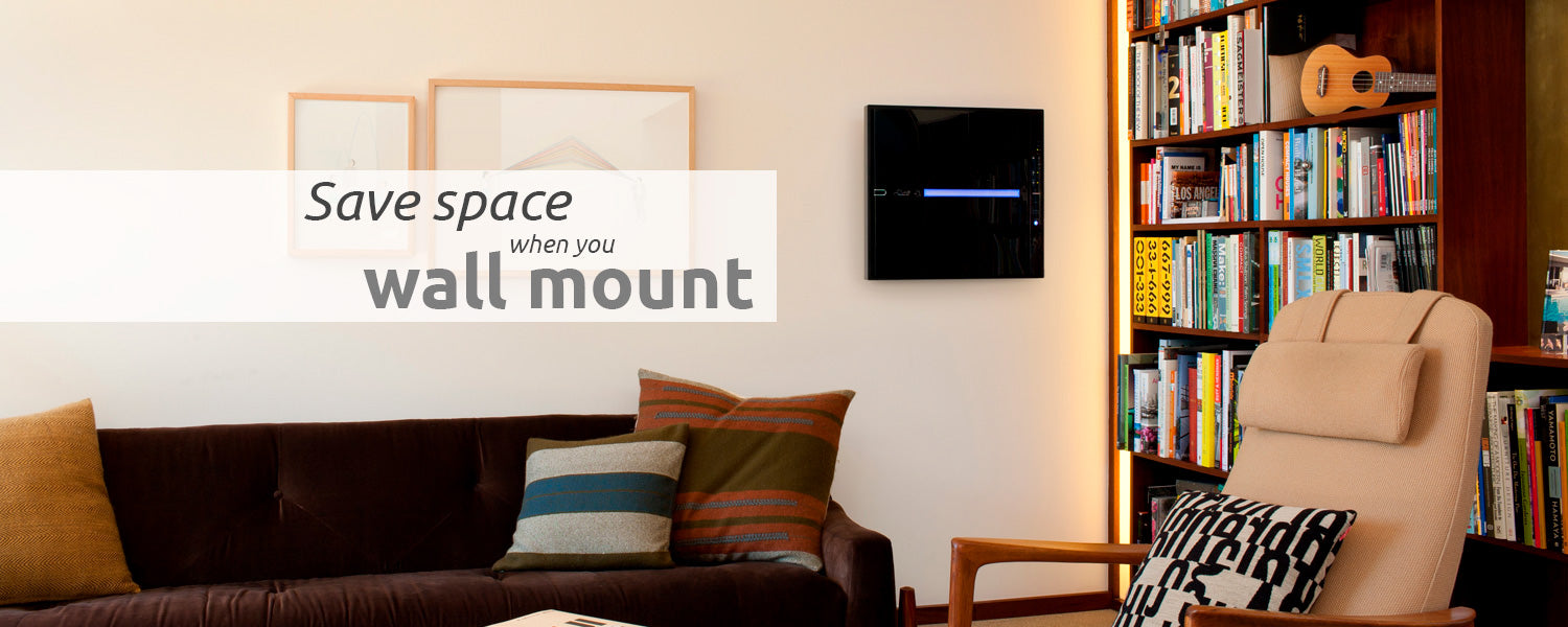 MinusA2 Air Purifier saves you space when you mount