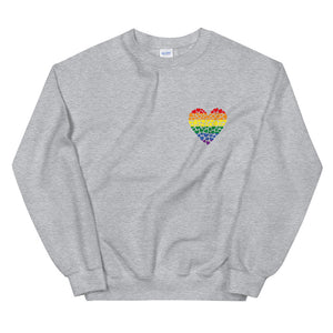 Rainbow Heart Sweatshirt