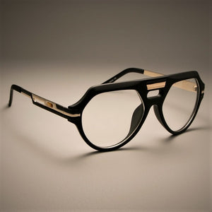 SU145 Retro Flat Glasses Frames Men Women Brand Designer Optical EyeGlasses Steampunk Metal Eyewear