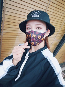Graffiti Unisex Face Mask Cool Anime Mouth Mask Cotton Fabric Anti Dust Pollution Masks For Man Woman Keep Warm Mouth Face Mask