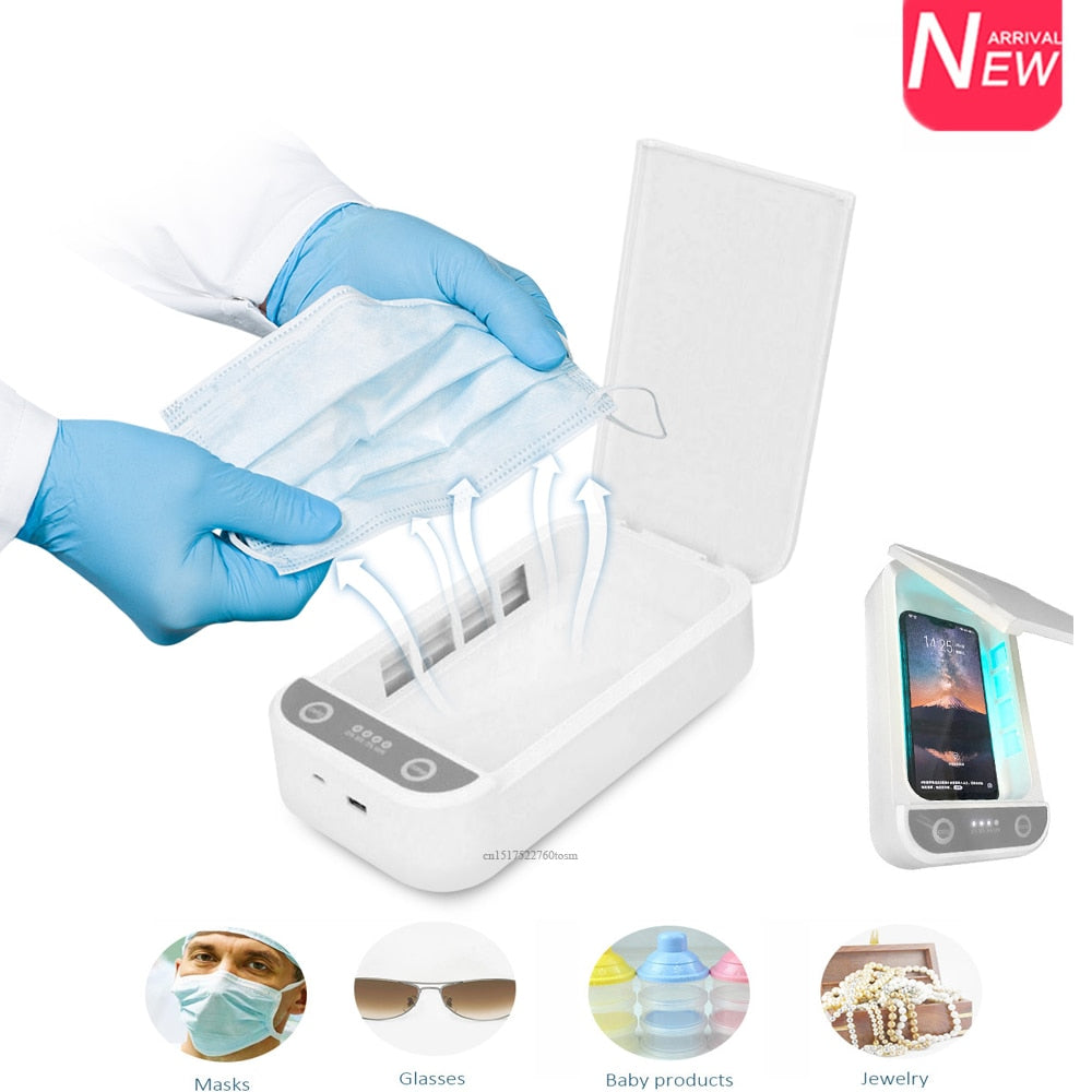 UV Mask and Phone Sterilizer, Included Disinfectant and aromatherapy kit
