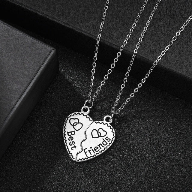 New Best Friends Necklace 2 Piece Enamel Puzzle Rainbow Cloud Pendant Necklace BFF Friendship Jewelry Gift For Women Men Gifts