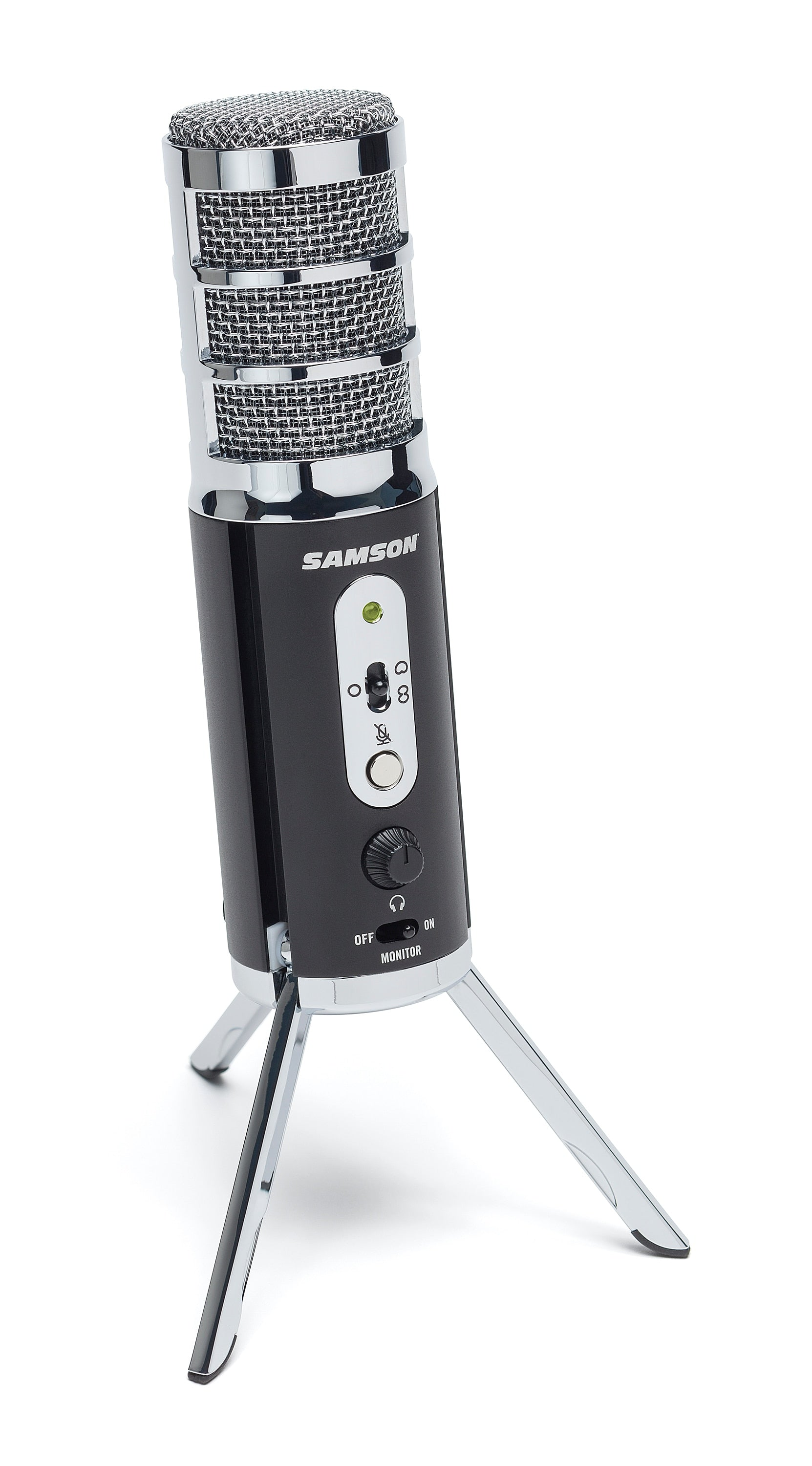 SAMSON Satellite potable USB/iOS broadcast microphone for streaming,podcasting,gaming,VoIP,voiceover work and recording music