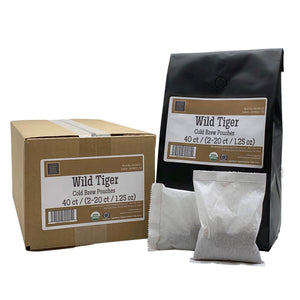 Wild Tiger® Cold Brew Pouch Food Service Case.