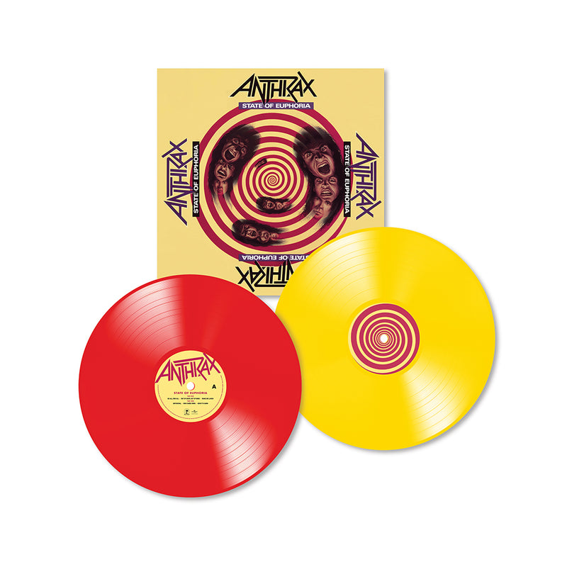 Anthrax - State Of Euphoria 30th Anniversary - Double Vinyle Couleur
