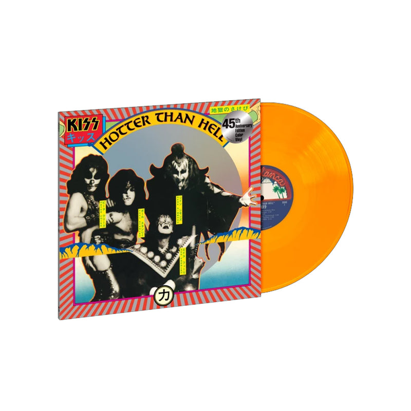 Kiss - Hotter Than Hell - Vinyle Orange Transparent