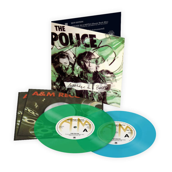 The Police - Message In A Bottle - Double 45T Bleu et Vert
