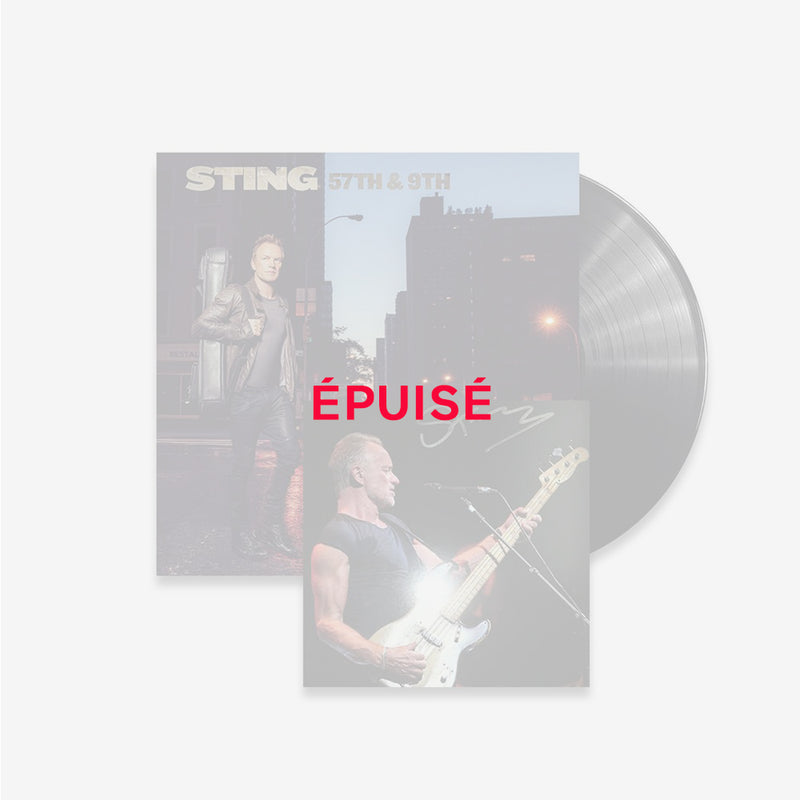 Sting - 57th and 9th - Vinyle + Lithographie Dédicacée