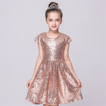 Load image into Gallery viewer, girls sequins princess dress