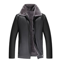 Load image into Gallery viewer, collar leather jacket