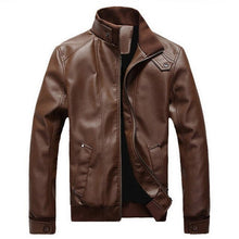 Load image into Gallery viewer, Puimentiua Men's leather jacket