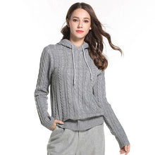 Load image into Gallery viewer, Knitted Women's Hooded Sweater