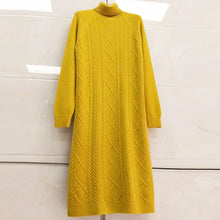 Load image into Gallery viewer, Autumn Winter Long Knitted Sweater
