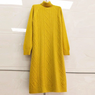 Autumn Winter Long Knitted Sweater