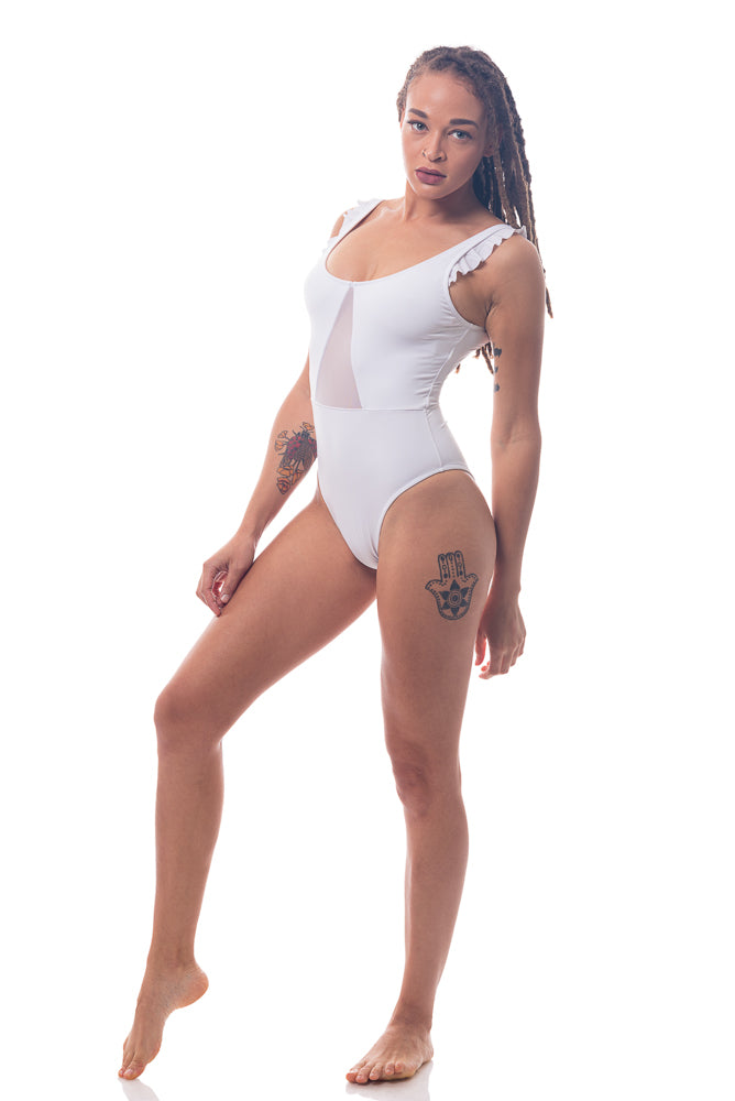 White One Piece Bathing Suit