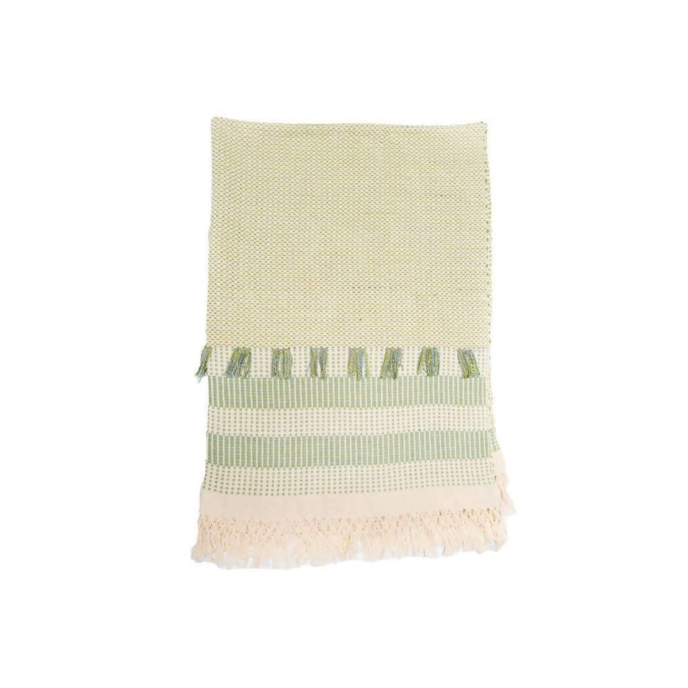 Large Feijoa Green Throw - Aztro Marketplace