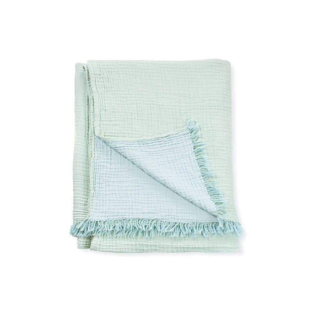 Lagoon Crinkle Cotton Throw - Small