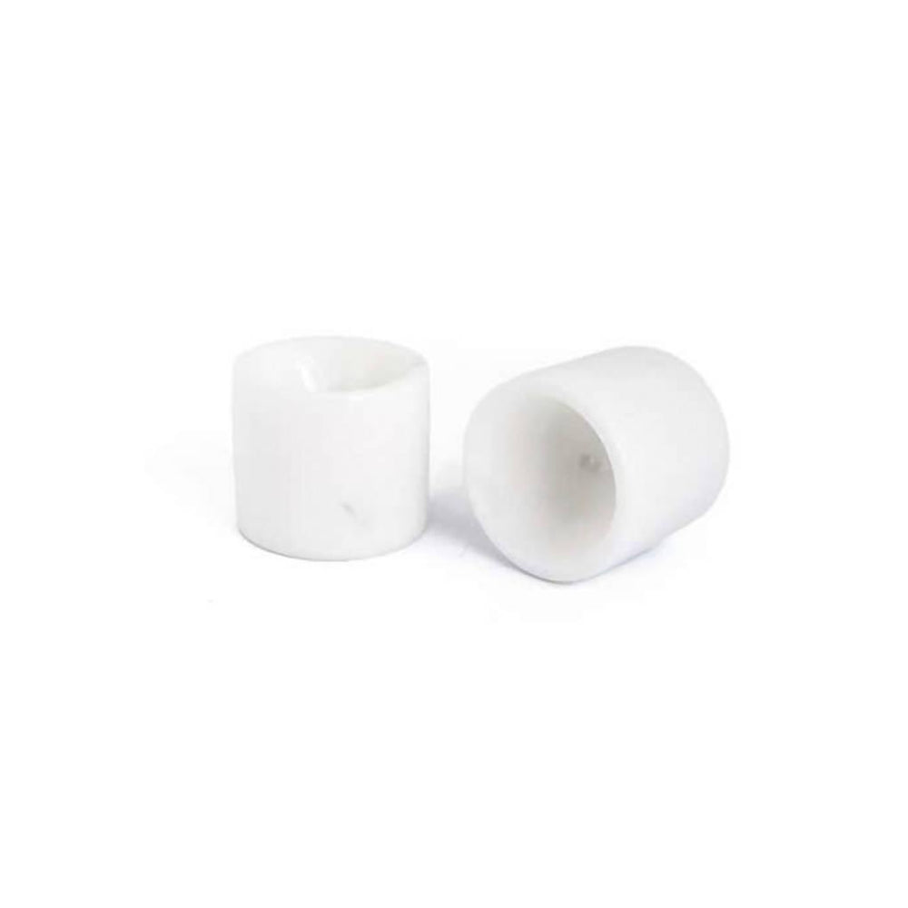 Set of 2 White Marble Egg Cups