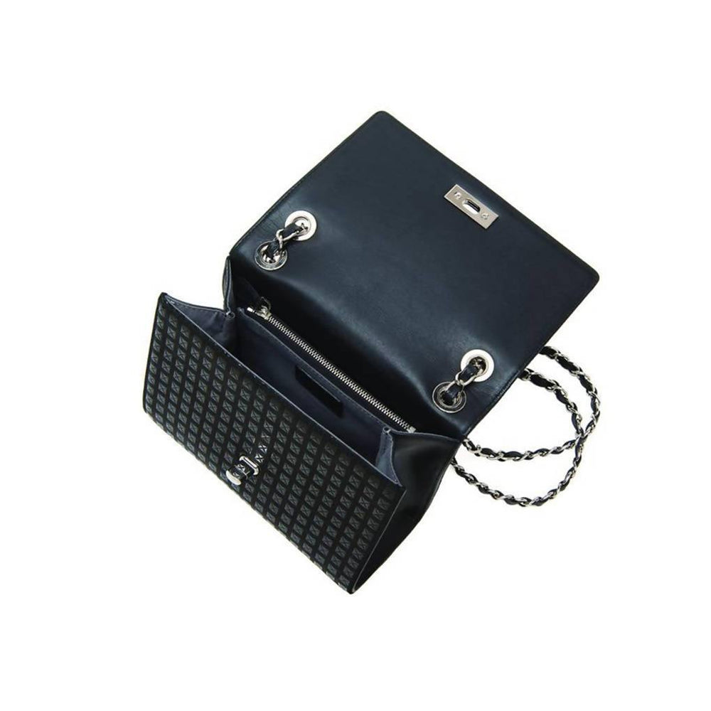 Studs W Chain Shoulder Bag