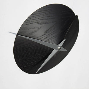 Vulcanello Wall Clock - Black Ash