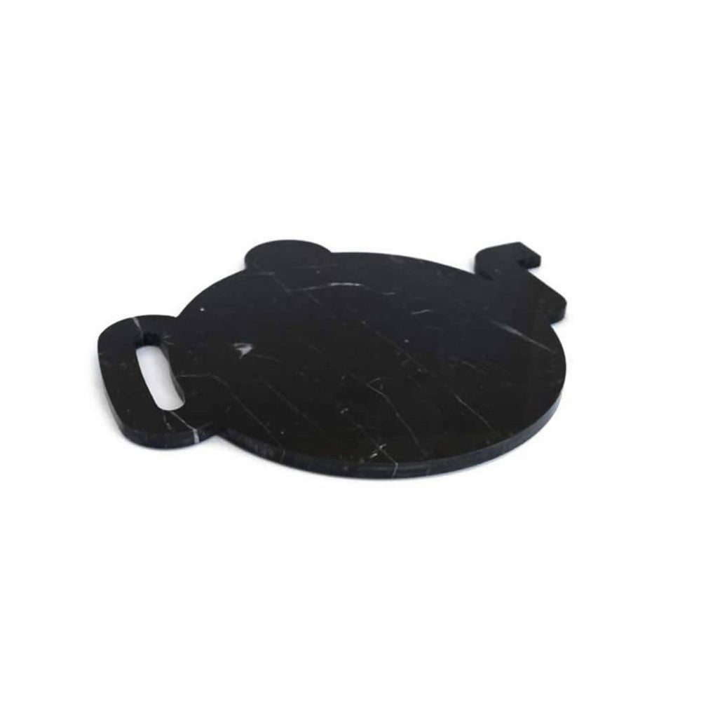 Black Marble Plate Design Shape of a Teapot - Aztro Marketplace