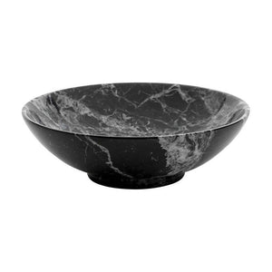 Rounded Bowl in Black Marquina or White Marble - Aztro Marketplace