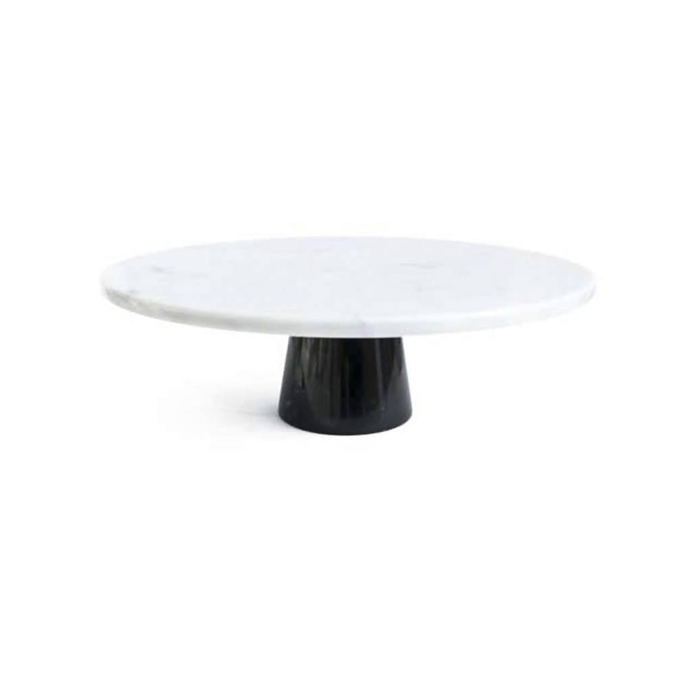 Cake Stand with White and Black Marble