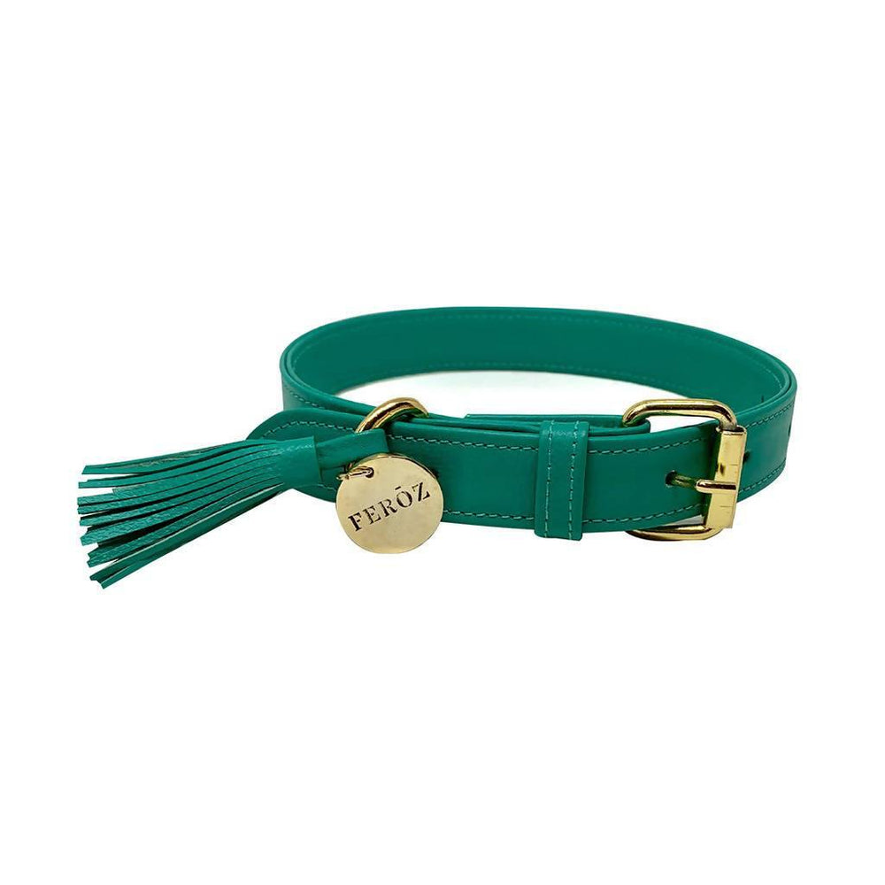 Collar Leather Turquoise