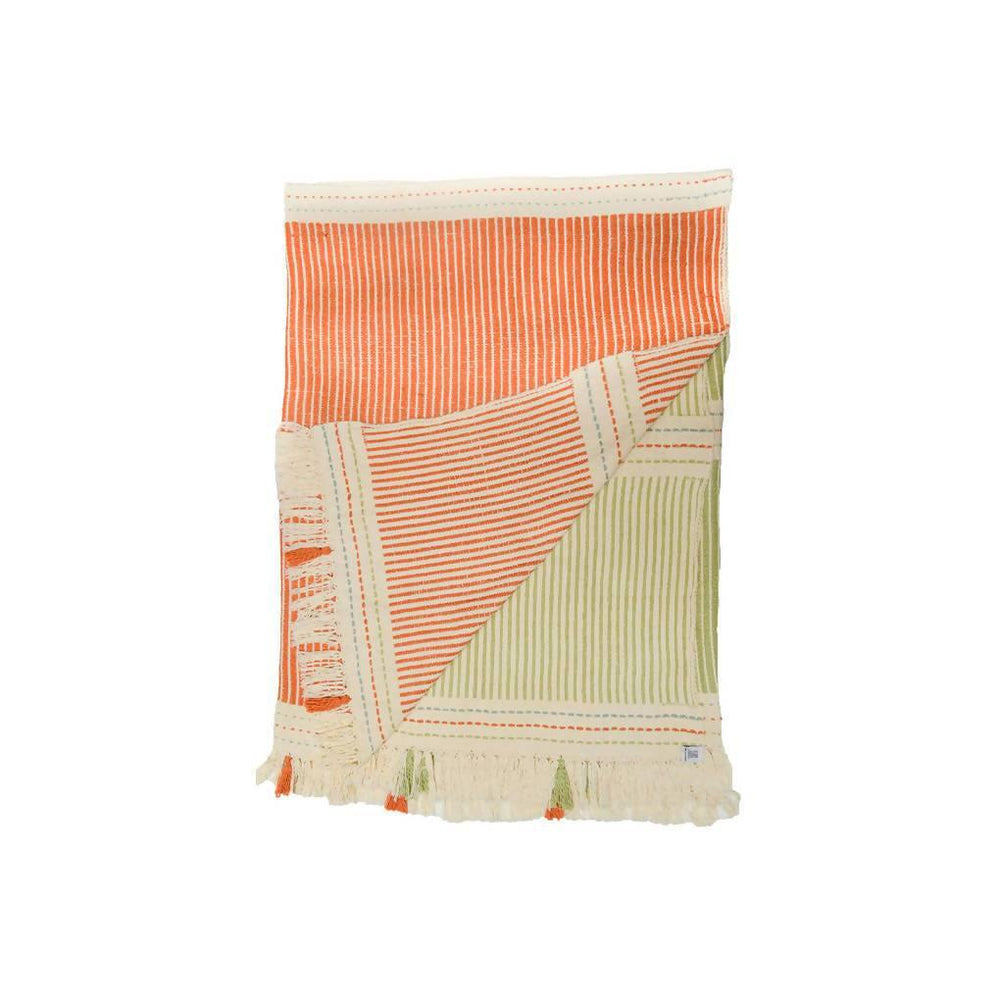 Lulo Orange and Green Throw