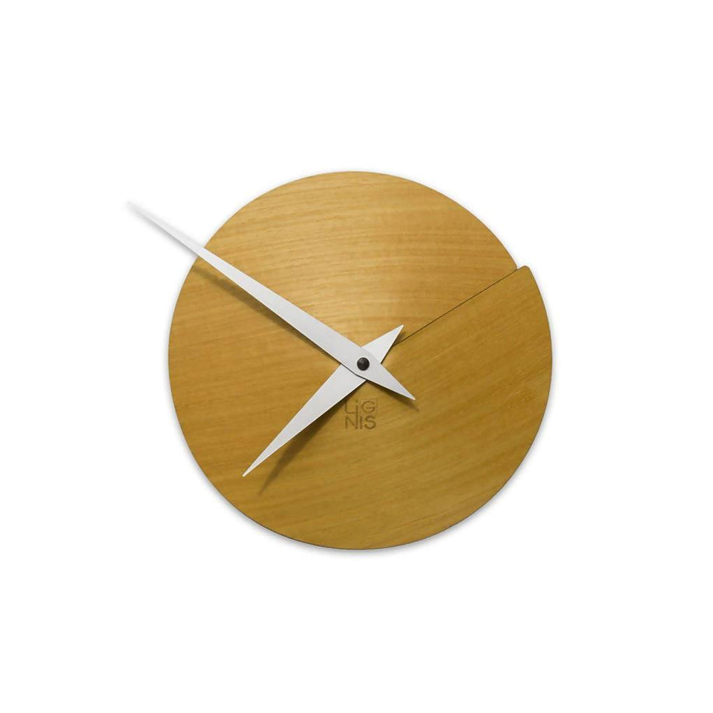 Vulcanello Wall Clock - Yellow Ash