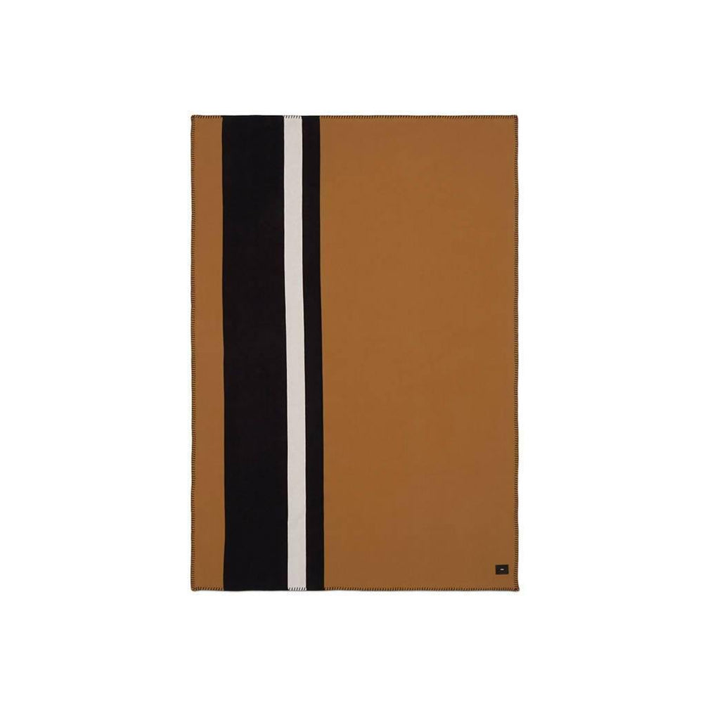 Viso Blanket - Camel / Black / White