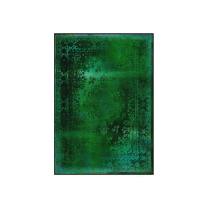 Kashan Remix Green Rug - Aztro Marketplace