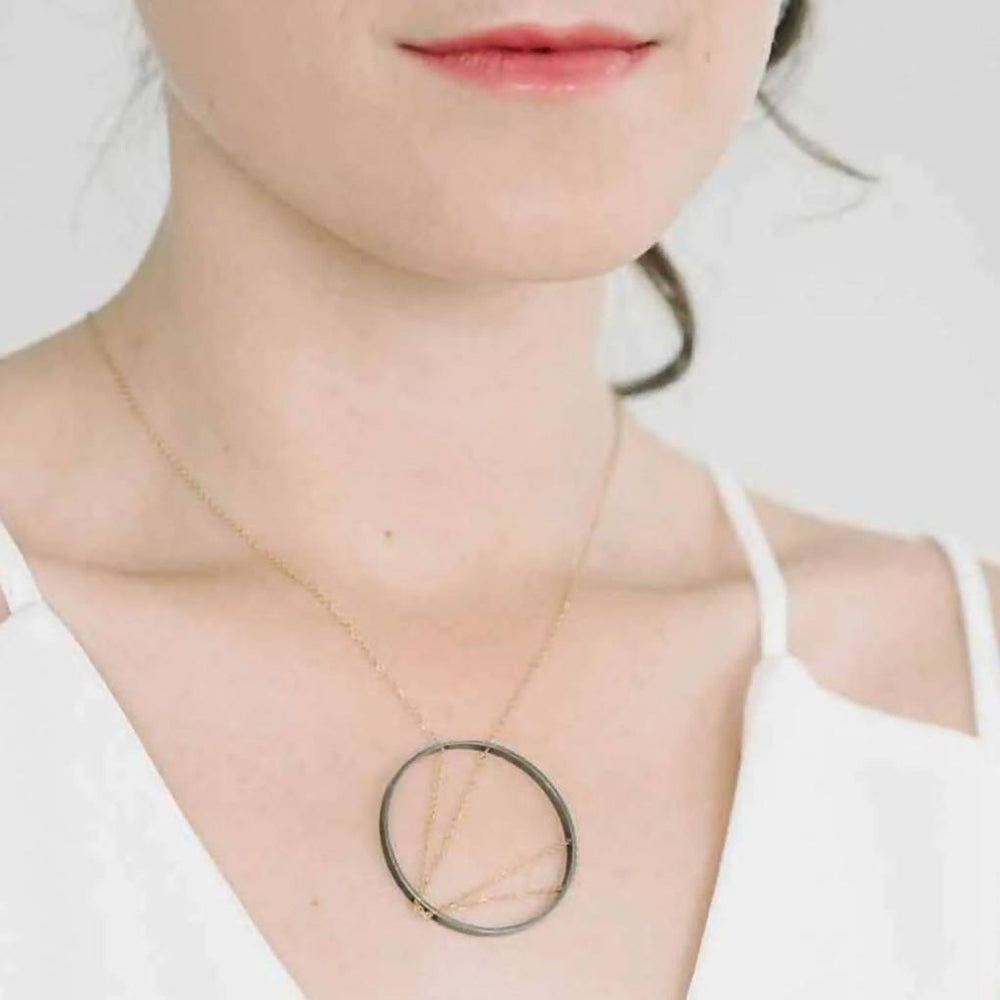 Arc Necklace in Sterling Silver - Aztro Marketplace