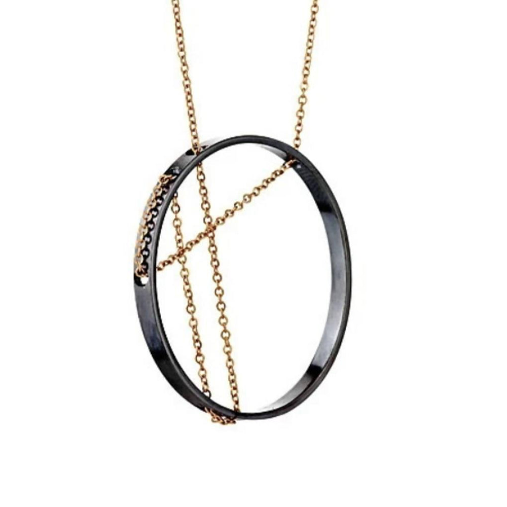 Vitruvia Necklace in Oxidized Silver and Gold