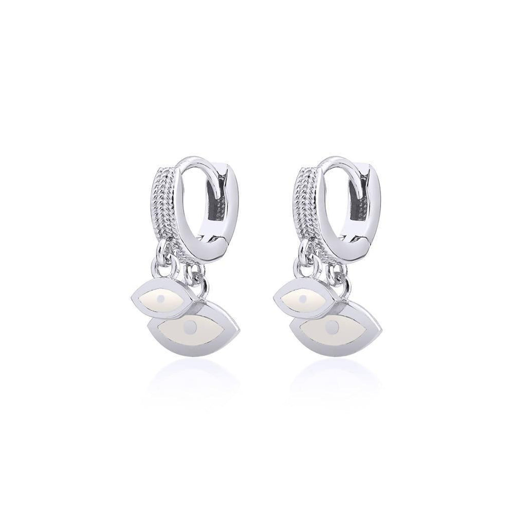 Duo Eye Earrings Silver