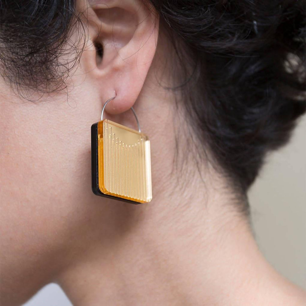 Dual Earrings - Square - Aztro Marketplace