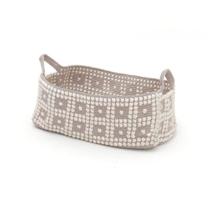 Dot Texture Square Cotton Basket - Small