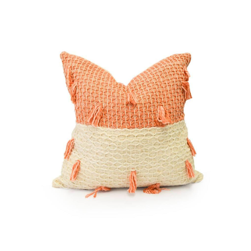 Diamond Guayaba Pink Pillow with Tassels