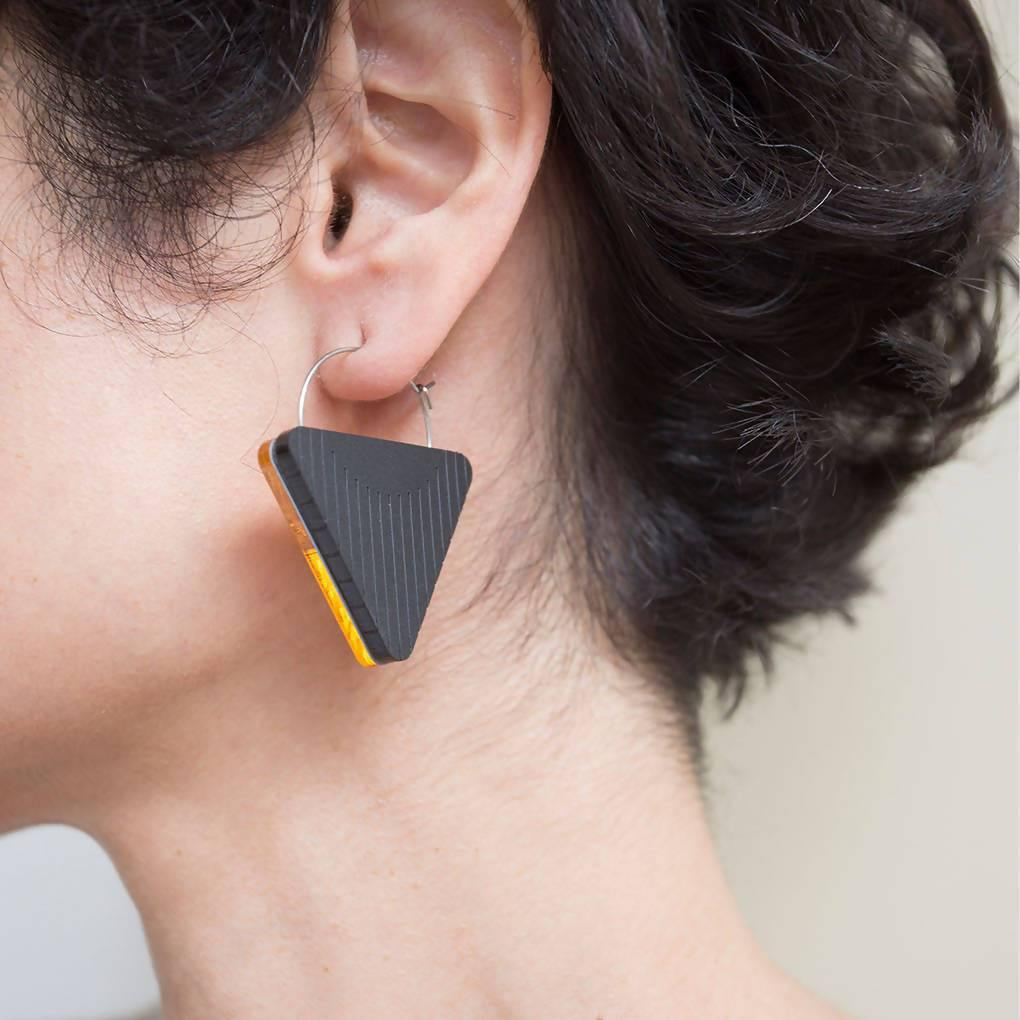 Dual Earrings - Triangle - Aztro Marketplace
