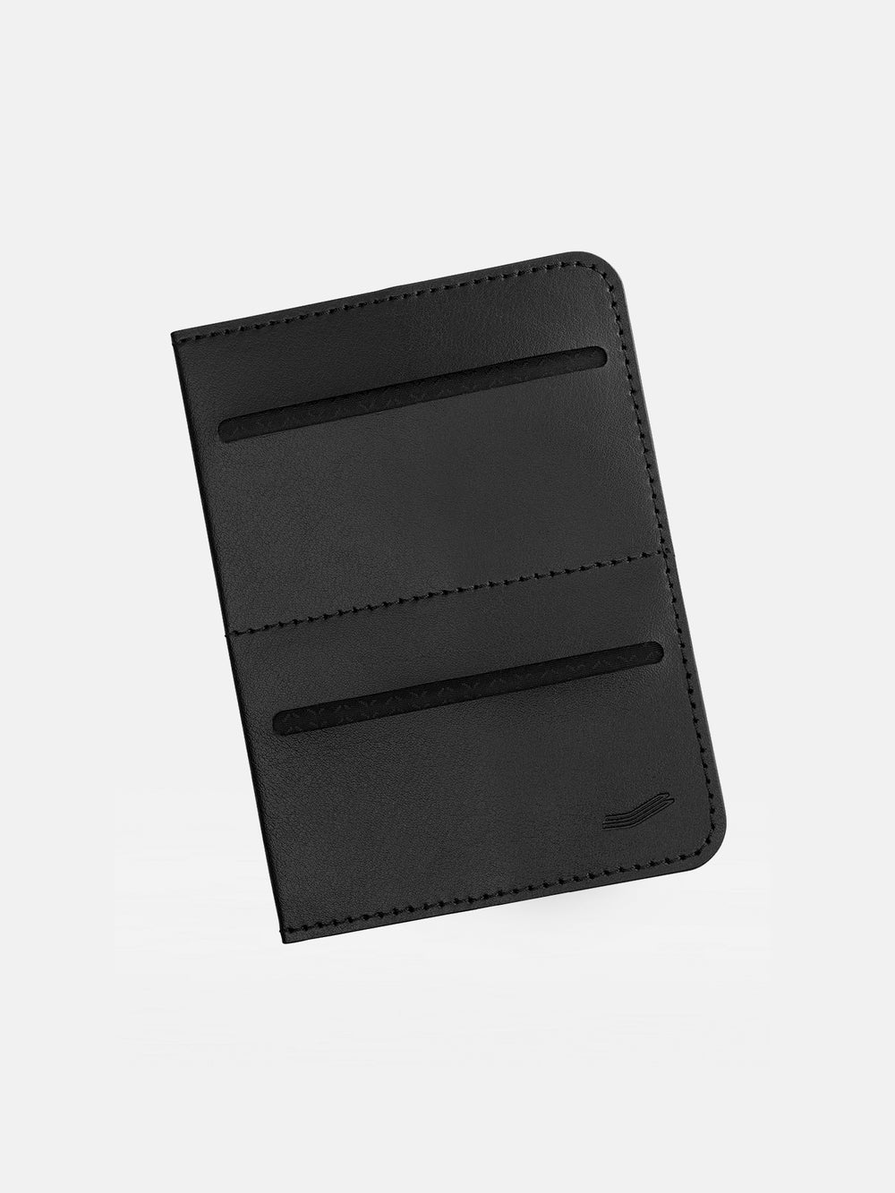 avant passport protector in italian black leather