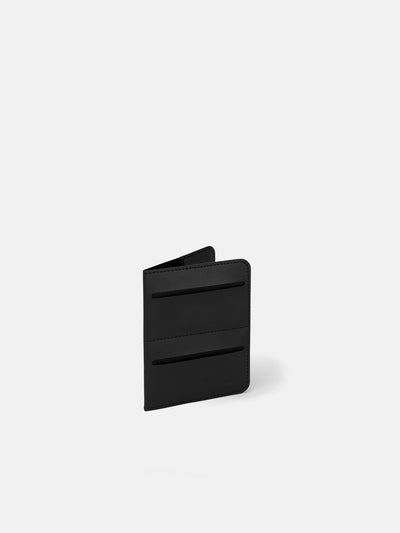Avant Italian Black Leather Passport Wallet