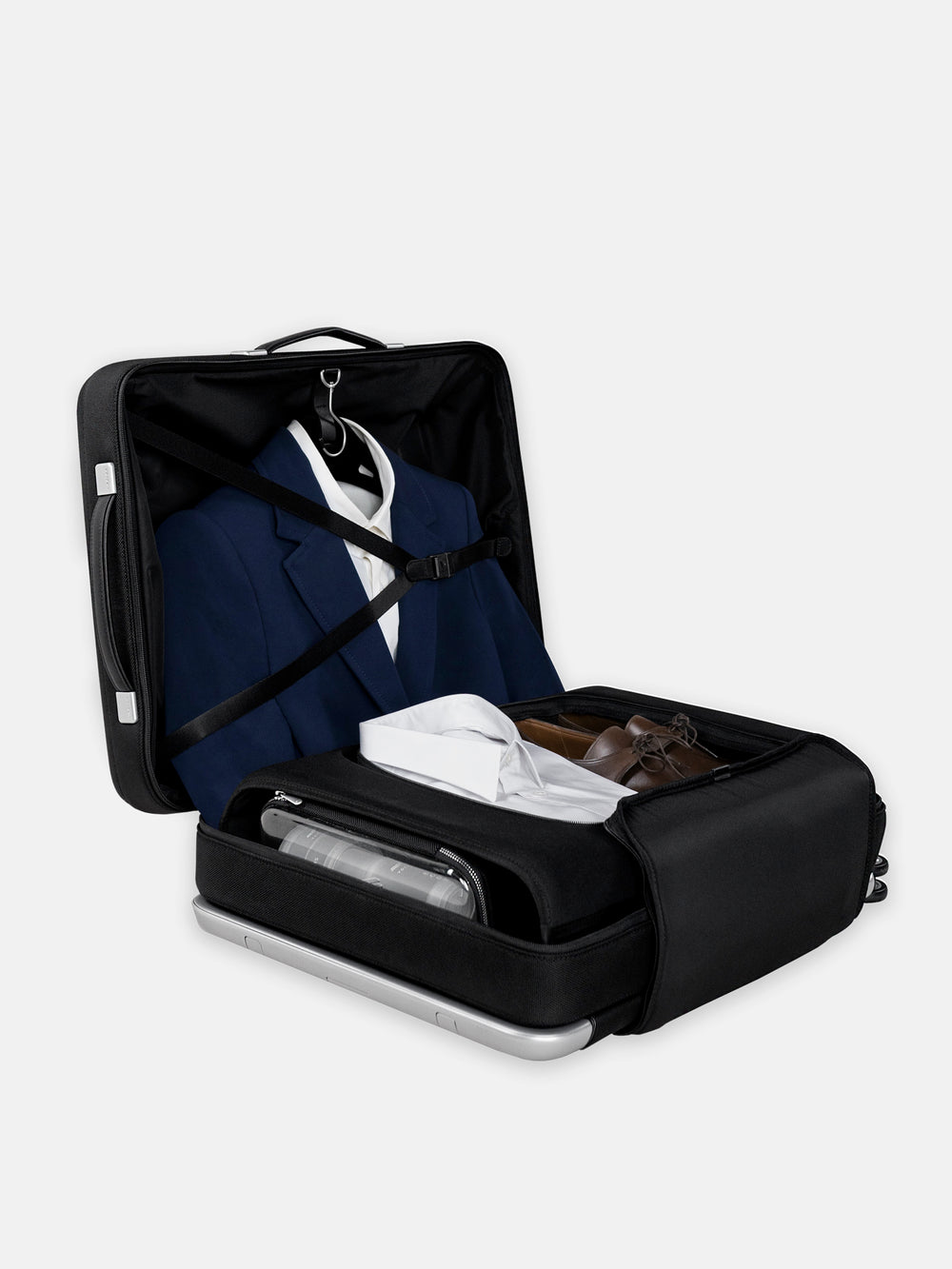avant zero crease suit compartment for luggage