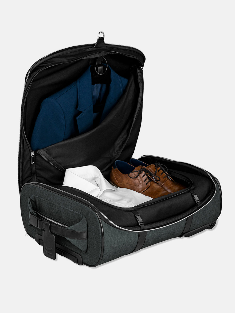 cp38 carry on luggage set with suit compartment