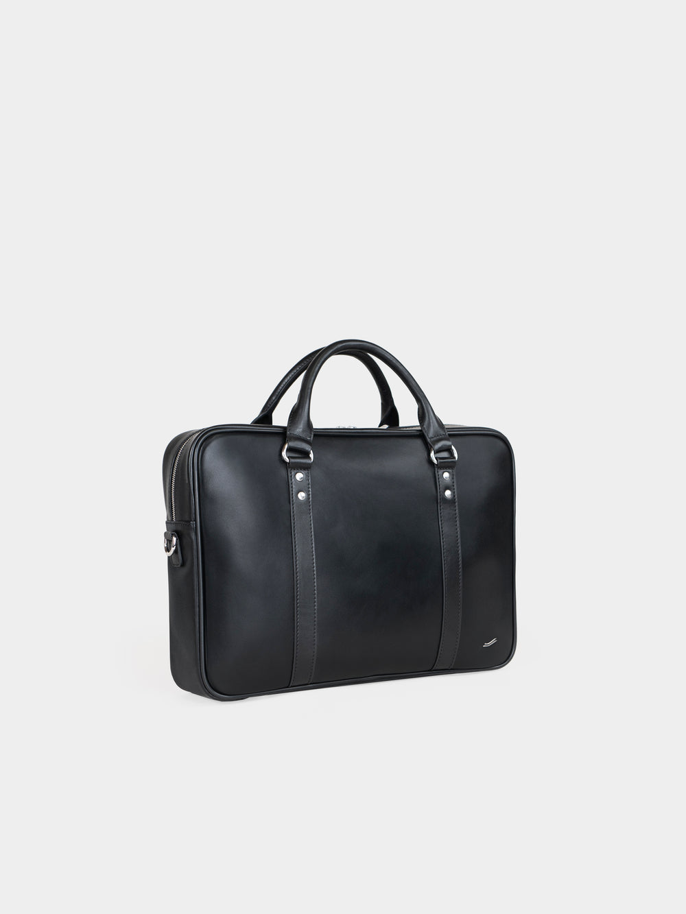 f25 briefcase italian black leather
