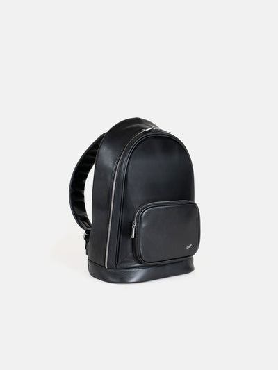 Vocier F30 Business Backpack in Black Leather