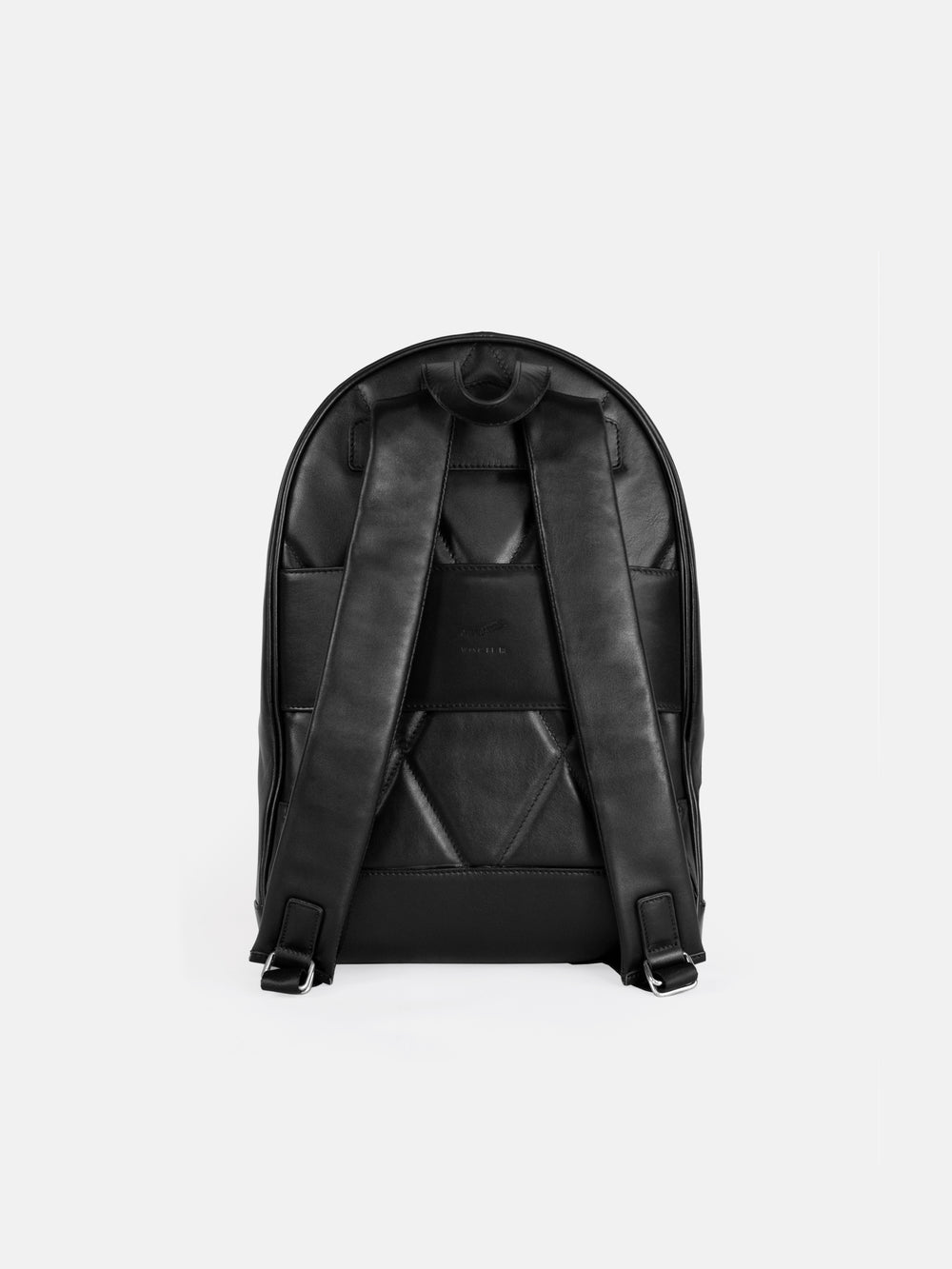 f30 business backpack black leather schwarzes leder