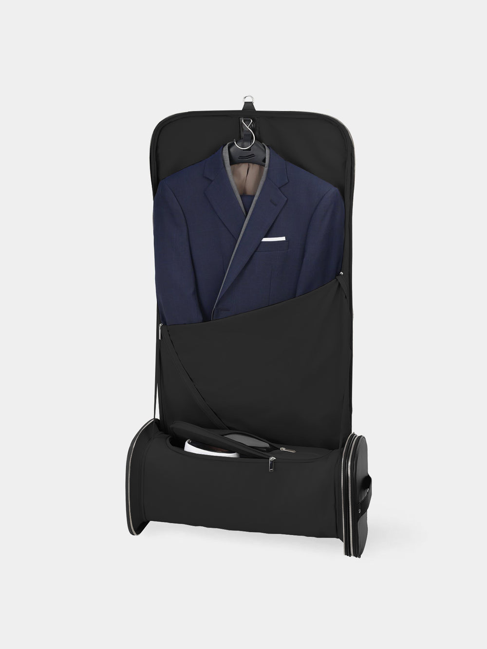 f35 garment bag black leather schwarzes leder